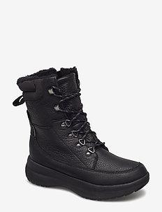 Un Orbit Up - flade ankelstøvler - black leather