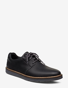 Grandin Plain - buty sznurowane - black leather