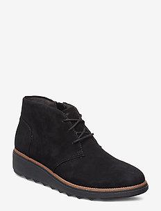 Sharon Hop - flade ankelstøvler - black sde