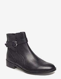 Netley Olivia - flade ankelstøvler - black leather