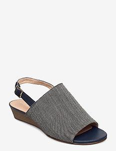 Mena Lily - korolliset sandaalit - navy interest