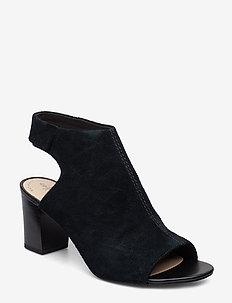 Deva Bell - korolliset sandaalit - black