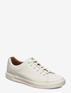 Un Costa Lace - baskets basses - white leather
