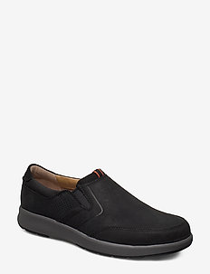 Un Trail Step - loafers - black nubuck