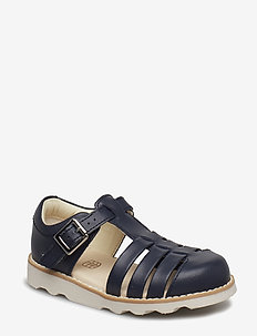 Crown Stem T - sandals - navy leather