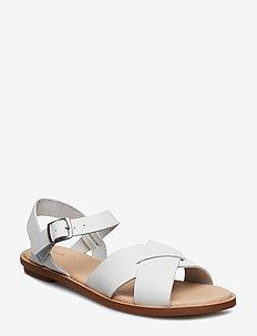 Women's Clarks Annadel Ivory Wedge Sandal White Leather