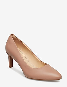 Calla Rose - klassiske pumps - nude leather