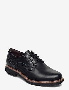 Batcombe Hall - veterschoenen - black leather