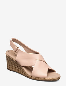 Lafley Alaine - højhælede espadrillos - blush leather