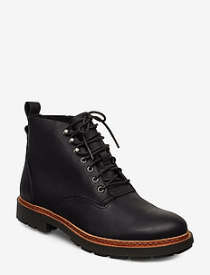 Trace Explore - veter schoenen - black leather