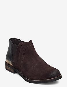 Demi Beat - platta ankelboots - dark brown
