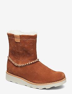 Crown Piper K - vinter boots - tan suede