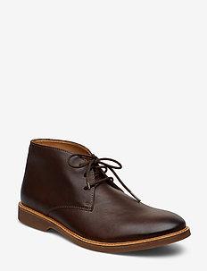 Atticus Limit - desert boots - dark brown lea
