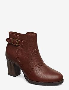 Verona Gleam - ankelstøvler med hæl - british tan