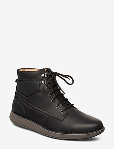 Un Larvik Peak - veter schoenen - black leather