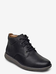 Un Larvik Top - nauhalliset - black leather