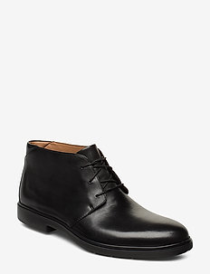 Un Tailor Mid - veter schoenen - black leather