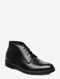 Paulson Mid - veter schoenen - black leather