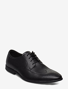 Bampton Wing - brogues - black leather
