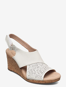 Lafley Joy - sleehakken - white leather
