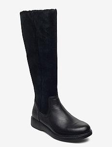 Un Elda Hi - lange laarzen - black combi