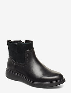 Un Elda Lo - platta ankelboots - black combi