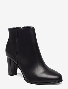 Kaylin Fern - ankelstøvler med hæl - black leather