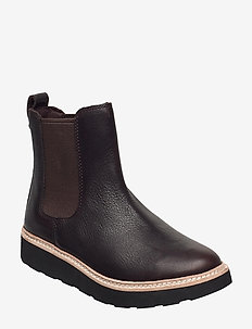 Trace Cora - chelsea boots - dark brown lea