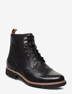 Batcombe Lord - veter schoenen - black wlined lea