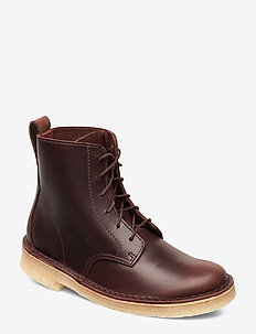 Desert Mali. - flat ankle boots - chestnut leather