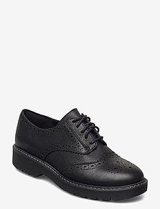 Witcombe Echo - veterschoenen - black leather