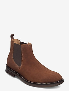 Paulson Up - chelsea boots - dark tan suede