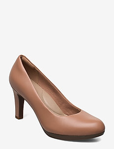 Adriel Viola - klassieke pumps - praline leather