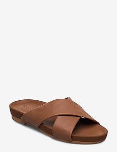 Pure Cross - flade sandaler - tan
