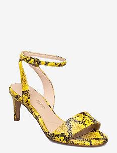 Amali Jewel - korolliset sandaalit - yellow snake