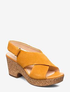Maritsa Lara - högklackade sandaler - amber suede