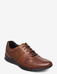 Un Tynamo Tie - lave sneakers - tan leather