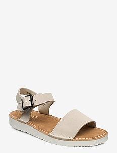 Lunan Strap. - flate sandaler - white suede