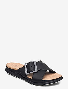 Step JuneShell - flade sandaler - black