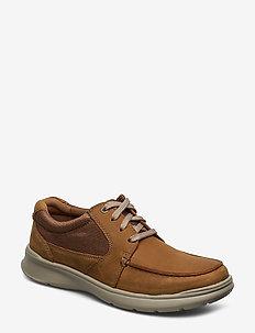 Cotrell Lane - boat shoes - tan combi lea
