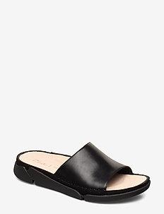 Tri Slide - flade sandaler - black leather