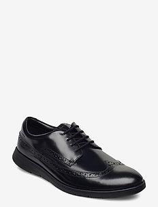 Helston Limit - veterschoenen - black leather