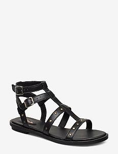 Willow Glad - flade sandaler - black leather