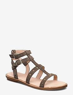 Willow Glad - flade sandaler - sage suede