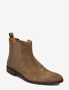 Stanford Top - chelsea boots - dark sand suede