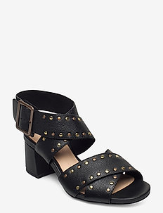 Sheer55 Buckle - sandały na obcasie - black leather