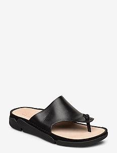 Tri Toe Post - flade sandaler - black leather