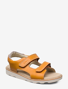 Crown Root K - sandals - burnt orange lea