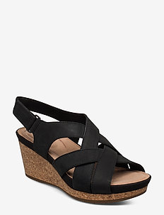 Un Capri Step - wedges - black nubuck