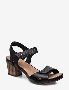 Un Palma Vibe - sandales à talons - black leather